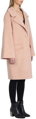 Badgley Mischka Madi Double-Faced Wool Coat with Bell Sleeves