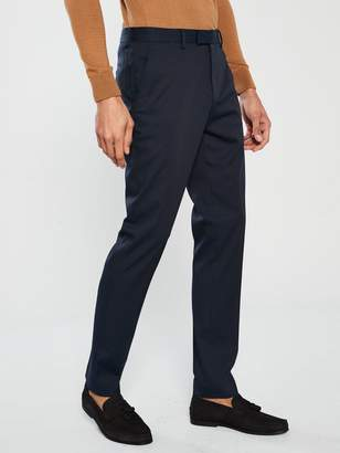 River Island Edward Texture Slim Navy Trousers