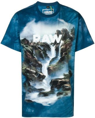 Cyber water printed T-shirt
