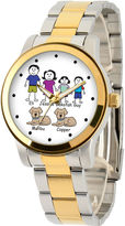 JCPenney FINE JEWELRY Unisex Two Tone Bracelet Watch-41478-Tt
