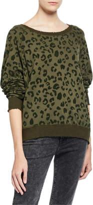 Rails Theo Distressed Leopard-Print Sweater