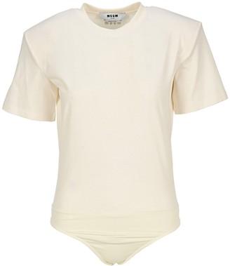MSGM Crewneck T-Shirt Bodysuit