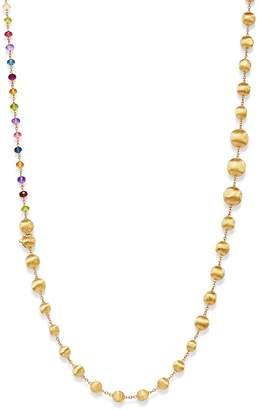 "Marco Bicego 18K Yellow Gold Africa Amethyst, London Blue Topaz, Blue Topaz, Citrine, Peridot, Garnet & Pink Tourmaline Convertible Necklace, 36"""