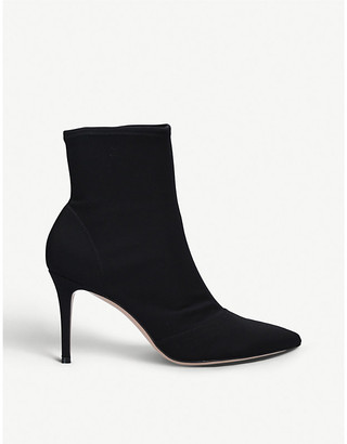 Gianvito Rossi Elite 85 suede heeled ankle boots