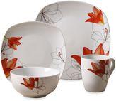Tabletops Unlimited Lily Square Porcelain 16-Piece Set