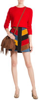 Diane von Furstenberg Suede Bucket Bag with Fringing