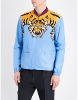 Gucci Tiger-graphic Shell Bomber Jacket