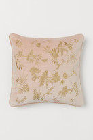 H&M Embroidered Cushion Cover - Pink