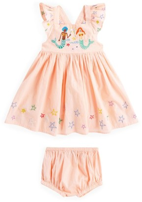 Stella McCartney Embroidered Mermaid Dress and Bloomers Set