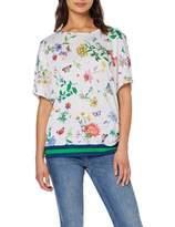 Brax Women's Rachel Linen Print Gebluhmtes Leinenshirt Poncho T-Shirt