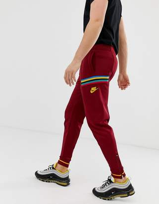 Nike Re-Issue Joggers In Red