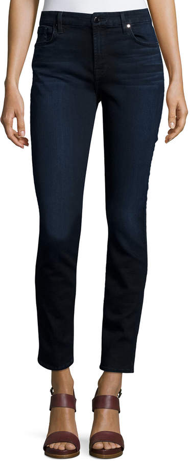Jen7 by 7 for All Mankind Riche Touch Skinny Ankle Jeans, Dark Blue