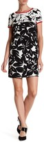 Maggy London Printed Bedrock Blossom Knit Dress