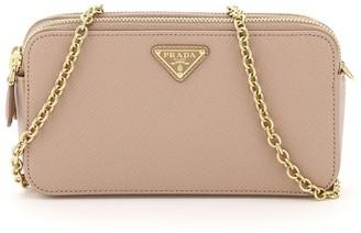 Prada Logo Plaque Mini Chain Bag