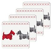 Kitchen Craft Scottie Dog Cork-Backed Drinks Coasters, Set of 4