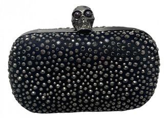 Alexander McQueen Skull Black Silk Clutch bags