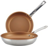 Ayesha Curry Home Collection Stainless Steel Nonstick Skillet Twin Pack