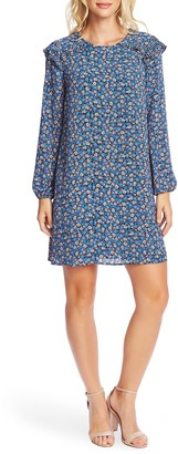 Cece By Cynthia Steffe Long Sleeve Floral Cluster Dress
