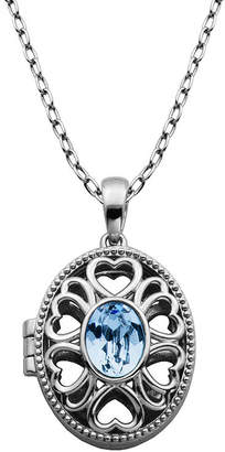 Swarovski SPARKLE ALLURE Sparkle Allure Made With Blue Crystal Bronze 18 Inch Cable Pendant Necklace