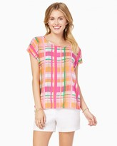 Charming charlie Painted Plaid Tee