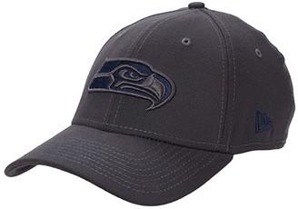 New Era NFL Stretch Fit Graphite 3930 -- Seattle Seahawks (Graphite) Baseball Caps