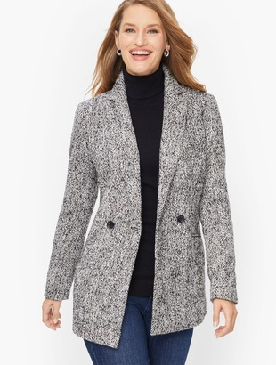 Talbots Double Breasted Herringbone Blazer