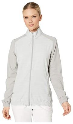 adidas Essentials Wind Jacket (Medium Solid Grey) Women's Clothing
