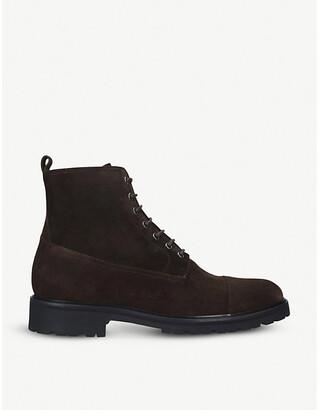 Belstaff New Alperton lace-up suede boots