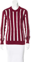 McQ by Alexander McQueen Mesh-Accented Cable Knit Sweater