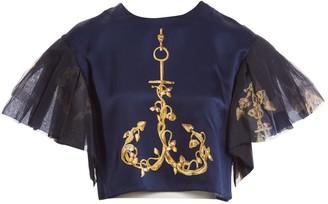 Natasha Zinko Blue Silk Top for Women