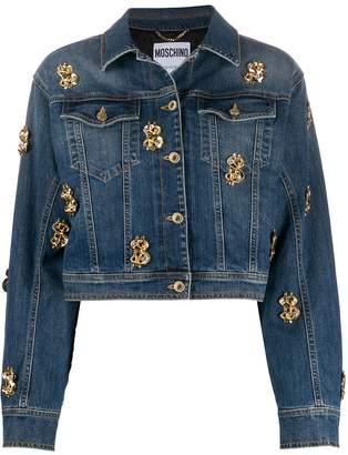 Moschino dollar-stud denim jacket
