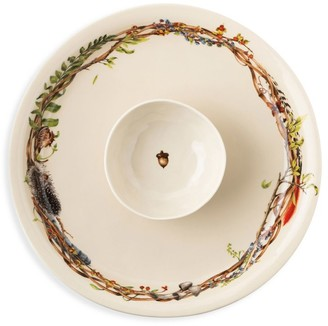 Juliska Forest Walk 2-Piece Chip & Dip Bowl & Platter Set