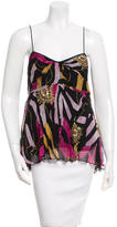 Diane von Furstenberg Sequin-Embellished Silk Top
