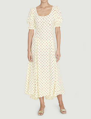 Faithfull The Brand Linnie floral-print crepe midi dress