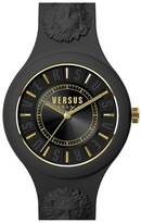 Versus By Versace Women's 'Fire Island' Round Rubber Strap Watch, 39Mm
