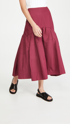 3.1 Phillip Lim Shirred Midi Skirt