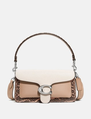 Coach Tabby Shoulder Bag 26 With Colorblock Snakeskin Detail