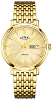Rotary Gb05303/03 Windsor Day Date Mesh Bracelet Strap Watch, Gold