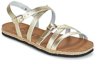 Casual Attitude ILMEM women's Sandals in Gold