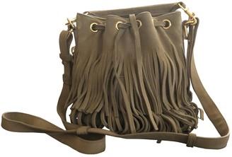 Saint Laurent Emmanuelle Khaki Suede Handbags