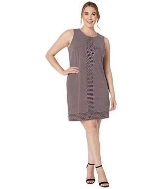 MICHAEL Michael Kors Size Tile Dot Sleeveless Border Dress
