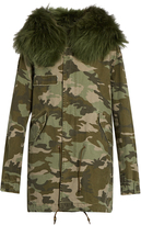 MR & MRS ITALY Camouflage-print fur-trimmed canvas parka