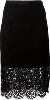 Diane von Furstenberg sheer lace pencil skirt - women - Cotton/Polyamide/Polyester/Viscose - 4