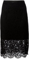 Diane von Furstenberg sheer lace pencil skirt - women - Cotton/Polyamide/Polyester/Viscose - 6