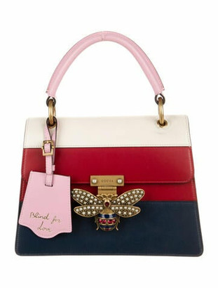 Gucci Small Queen Margaret Satchel Navy