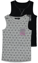 George 2 Pack Assorted Vest Tops