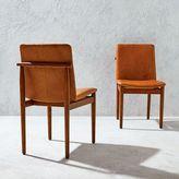 west elm Framework Leather Dining Chair - Saddle