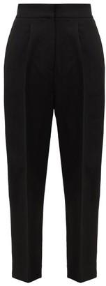 Petar Petrov Hyatt Side-stripe Crepe Trousers - Womens - Black