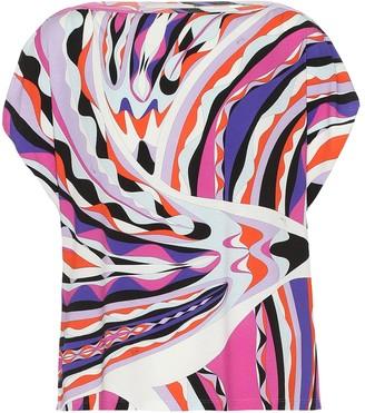 Emilio Pucci Beach Printed jersey top