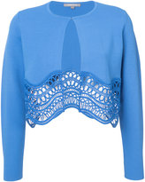 Lela Rose detailed cropped cardigan